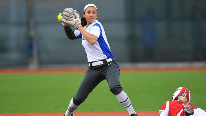 Softball Slowed at UConn on Wednesday