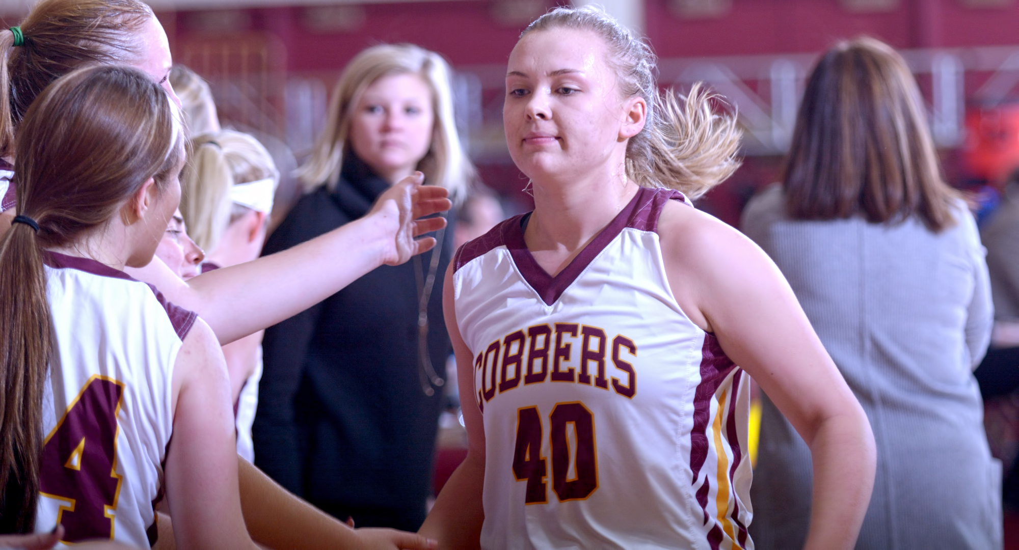 Sophomore Mira Ellefson scored a career-high 17 points in the Cobbers' non-conference game at Wis.-River Falls.
