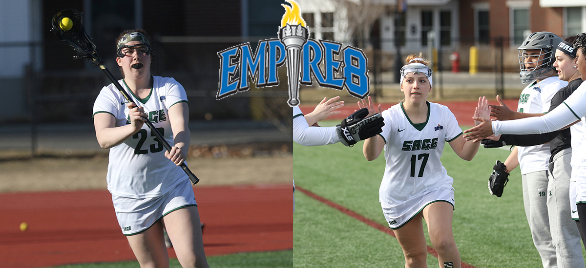 Sage's women's lacrosse players, Lettre and Franco honored by Empire 8