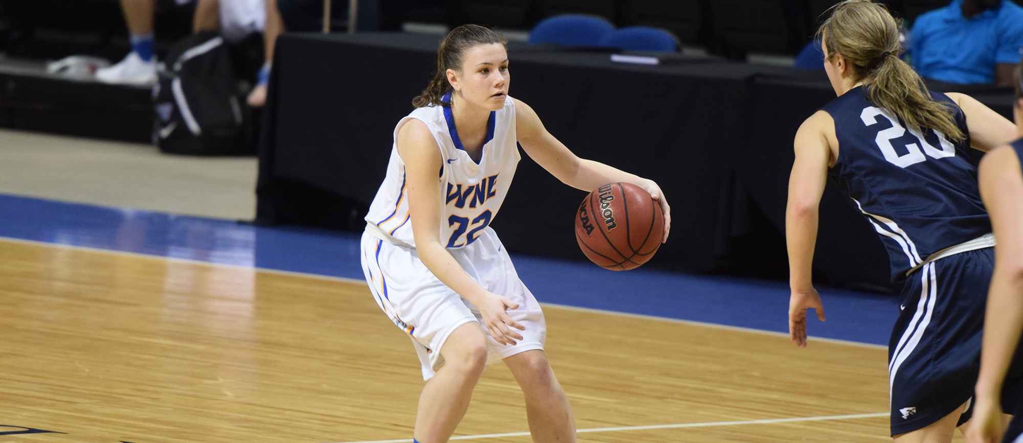 Sophomore Emily Farrell scored a career-high 18 points in Western New England's 65-62 loss at Salve Regina on Saturday.