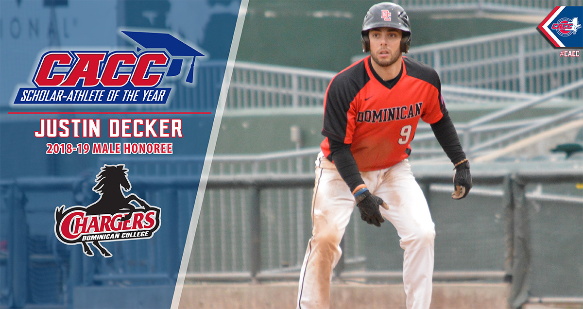 Dominican's Justin Decker Named 2018-19 CACC Male Scholar-Athlete of the Year