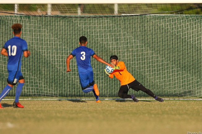 File Photo: GK Jordan Aldama and the Falcon defense shut out Mt. SAC, 1-0