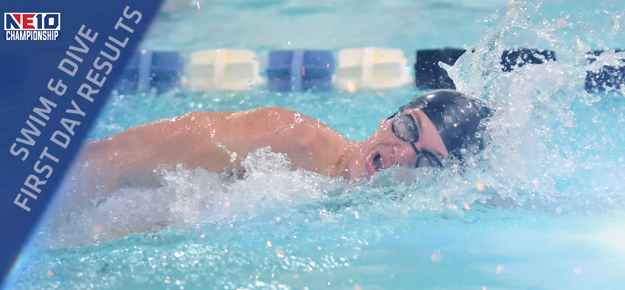 Bentley Leads After Day One of the NE10 Swimming & Diving Championships