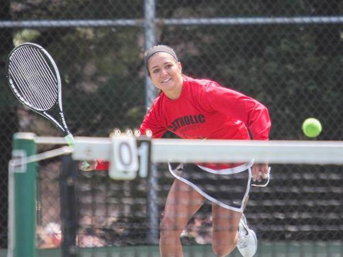CUA Women's Tennis Captures 7-2 Victory