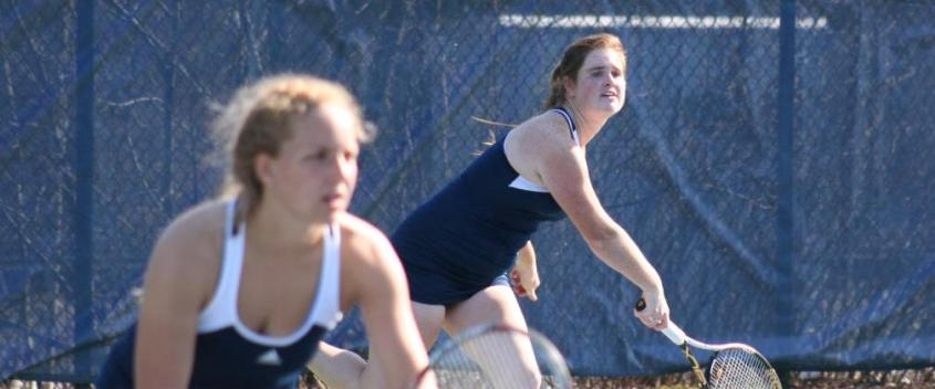 Faith Broderick '13 and Carley Cooke '15 are the Judges' top doubles tandem