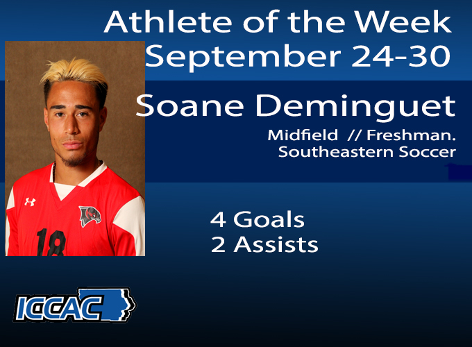 Deminguet Earns ICCAC Athlete of the Week Honors
