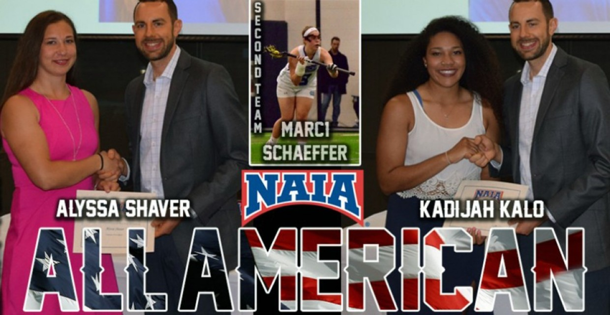 Alyssa Shaver and Kadijah Kalo named NAIA First Team All-Americans. Marci Schaeffer named to second team.
