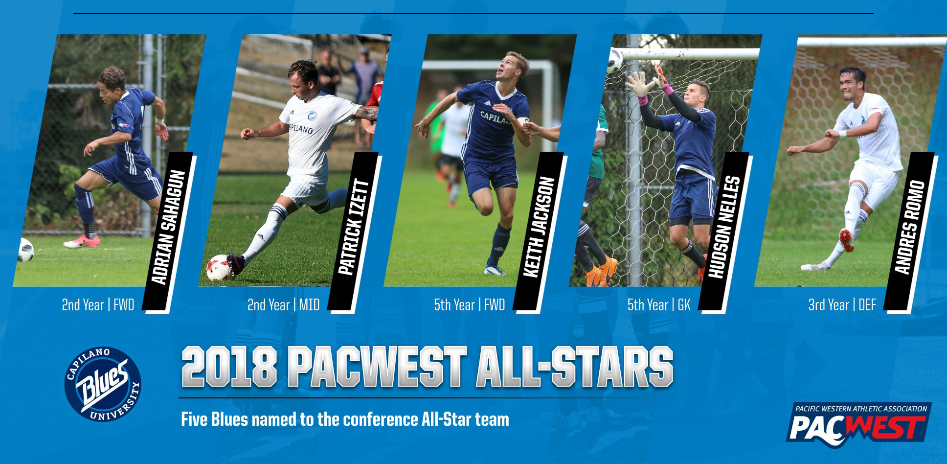 Five Blues named all-stars; Jackson top player