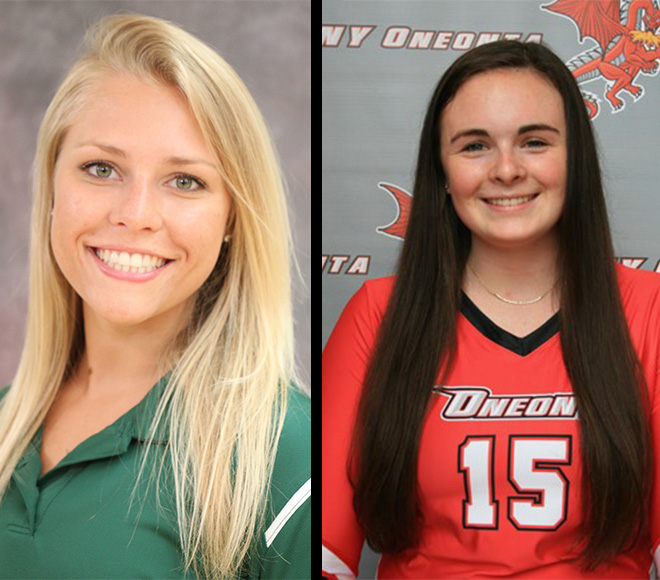 Culteon and Taylor named Women's Volleyball Athletes of the Week