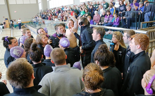 The University of Scranton men's & women's swimming & diving teams celebrated Senior Day on Saturday, Jan. 18, in the Byron Center.