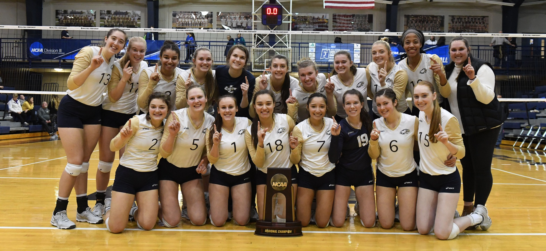 Women's Volleyball with the Regional Trophy
