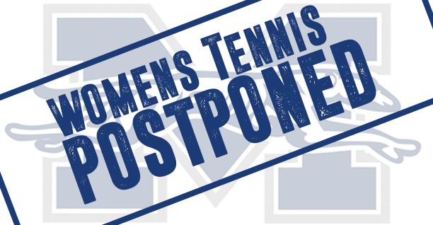 Women's Tennis match postponed.