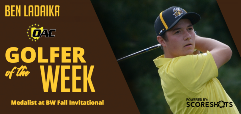 Ladaika Named OAC Men's Golfer of the Week Honor