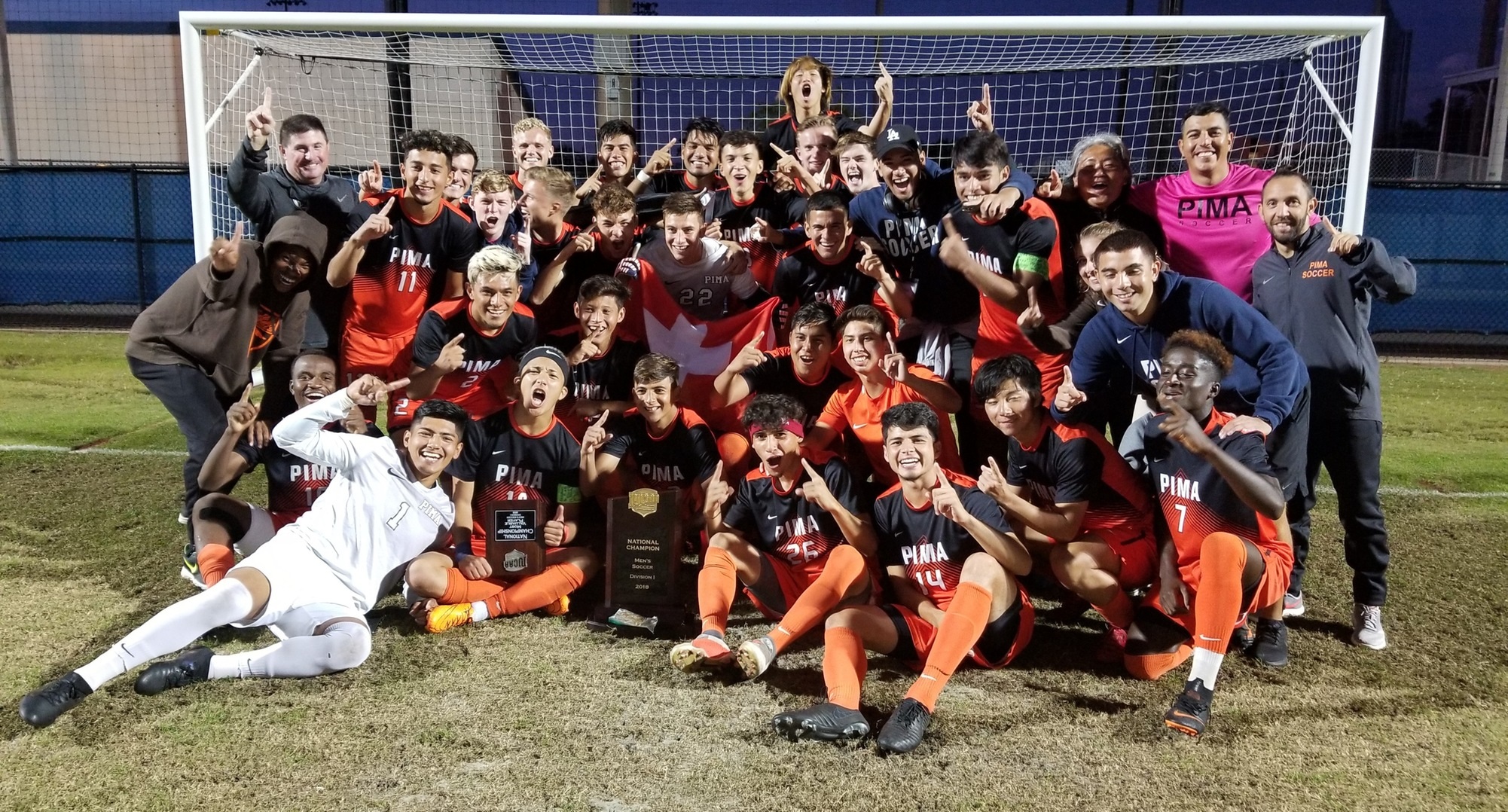 Pima's Men's Soccer Team Wins Natty