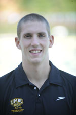 Senior John Mendenhall picked up two wins in his final meet at UMBC Natatorium
