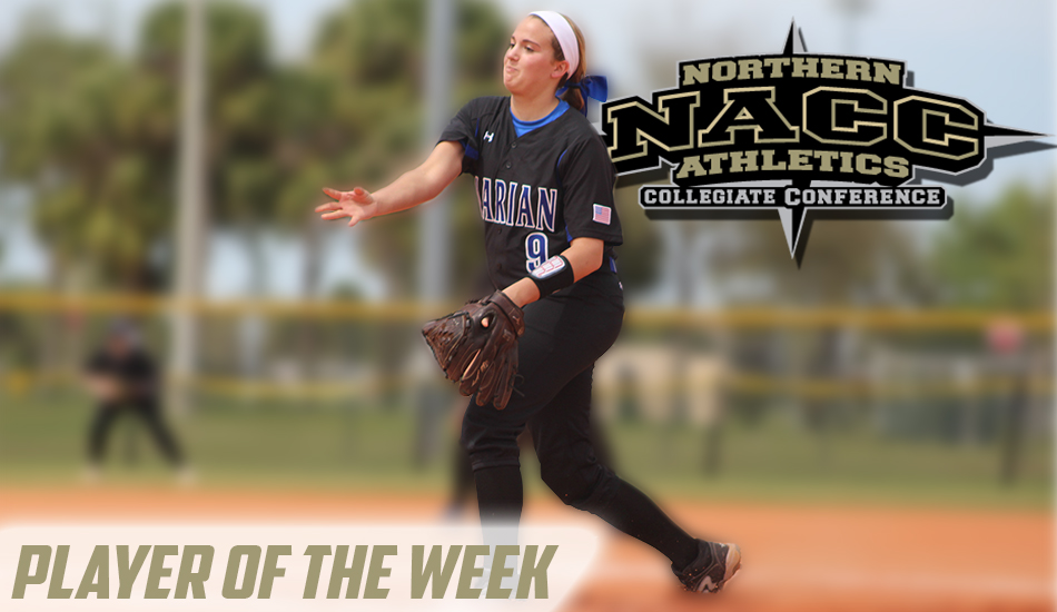 Paige Rauhut - Pitcher of the Week graphic.