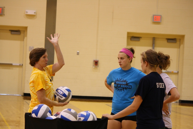 Photo Gallery From First Volleyball Practice (8/15/2011)