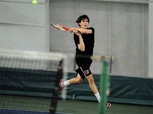 Singles sweep leads men's tennis past McDaniel