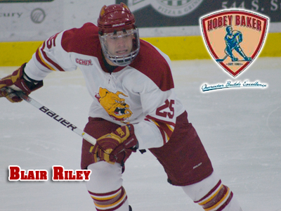 Blair Riley Selected As Hobey Baker Memorial Award Candidate
