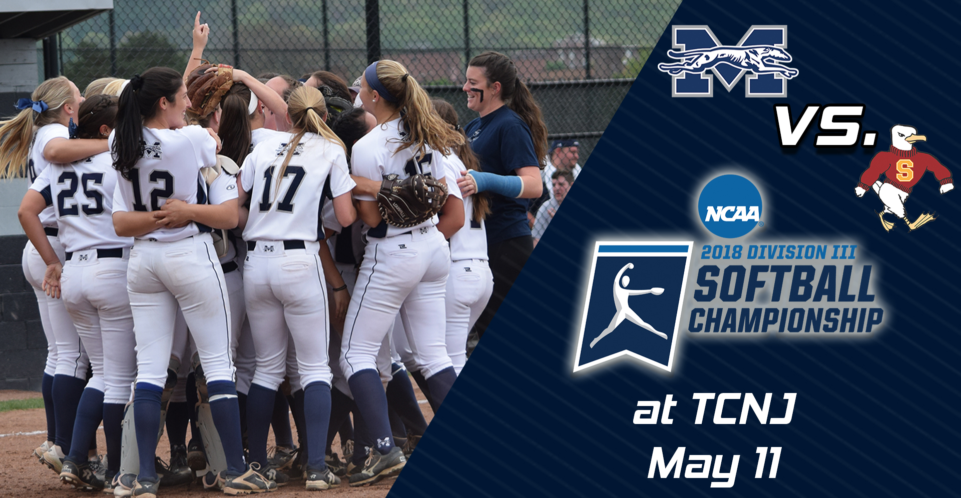 The softball team begins the 2018 NCAA DIII Regionals on Friday, May 11 versus Salisbury (Md.) University in Ewing, New Jersey.