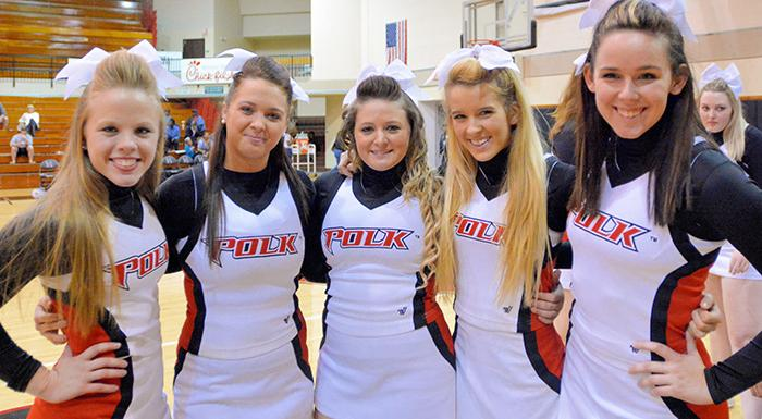 tudents can try out for the Polk State cheerleading squad on Aug. 30 in Winter Haven (Photo by Tom Hagerty, Polk State.)
