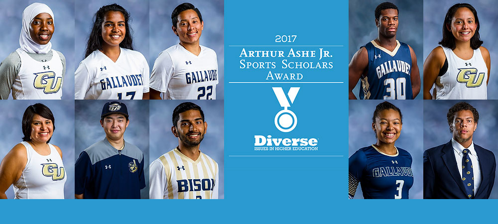 Gallaudet earns 11 Arthur Ashe, Jr. Sports-Scholar Awards