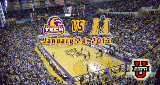 January game vs. Murray State will be nationally televised in Eblen Center