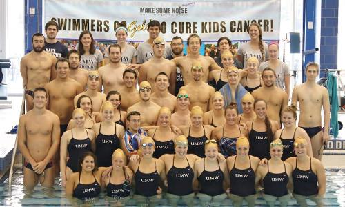 UMW Swimming Goes For Gold to Help Fight Childhood Cancer