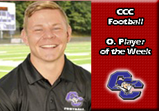 Alex Corvese-Curry, CCC Football: Offensive Player of the Week