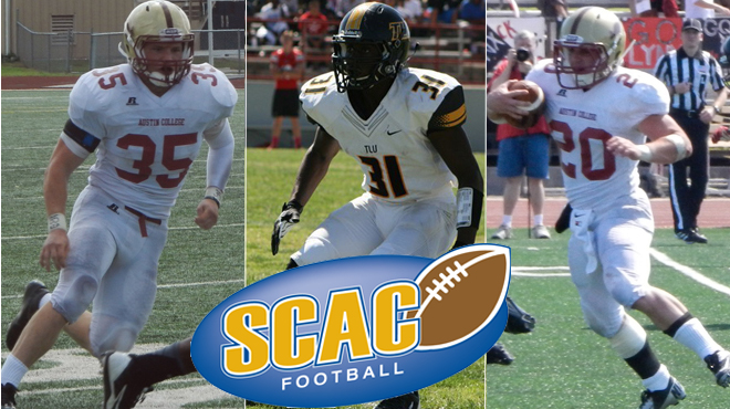 Austin College's Murphy, Packard; TLU's Singletary Named SCAC Football Players of the Week