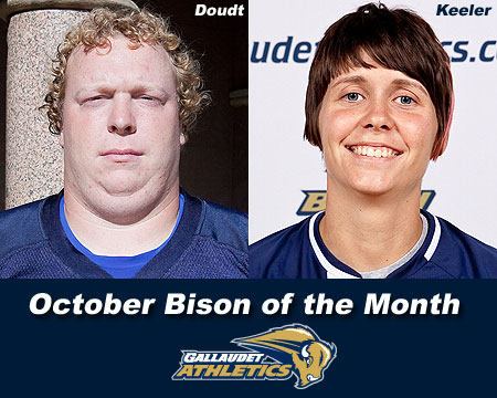 Doudt, Keeler selected as October Bison of the Month recipients