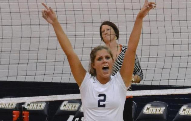 Coker Women's Volleyball Takes Down Mount Olive 3-2