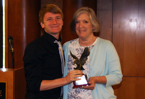 Swimming: James awarded College's Eagle Award