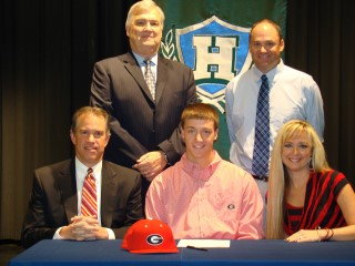 Zack Bowers signs with the University of Georgia to play college baseball