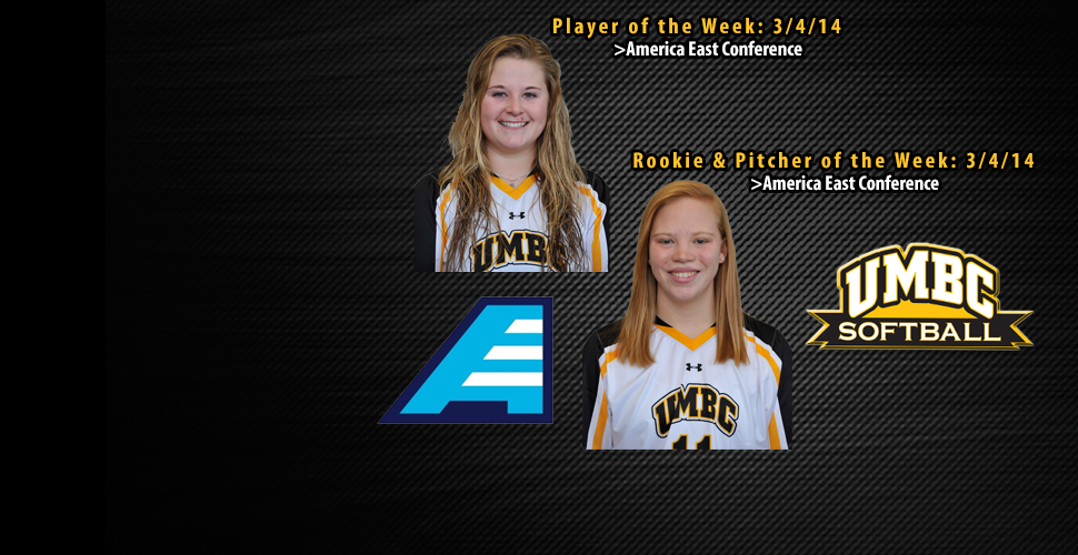 Hall and Holte Help UMBC Softball Sweep Weekly Awards
