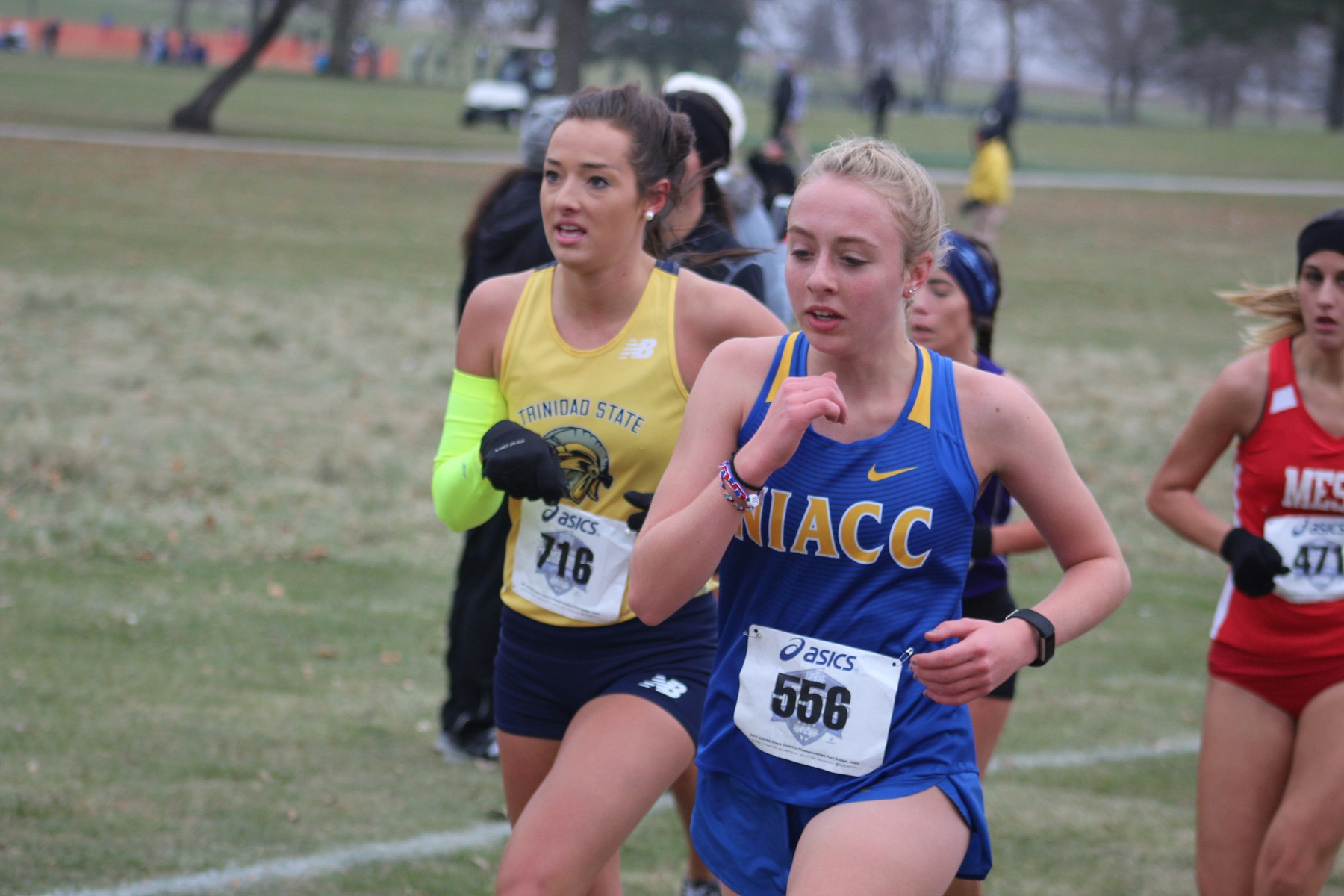NIACC's Julia Dunlavey runs at the national meet in Fort Dodge on Saturday.