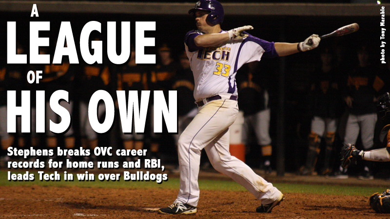 Stephens breaks OVC home run, RBI records in 7-1 win over Alabama A&M