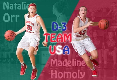 Natalie Orr and Madeline Homoly to Represent Washington University on USA D3 Team in Brazil
