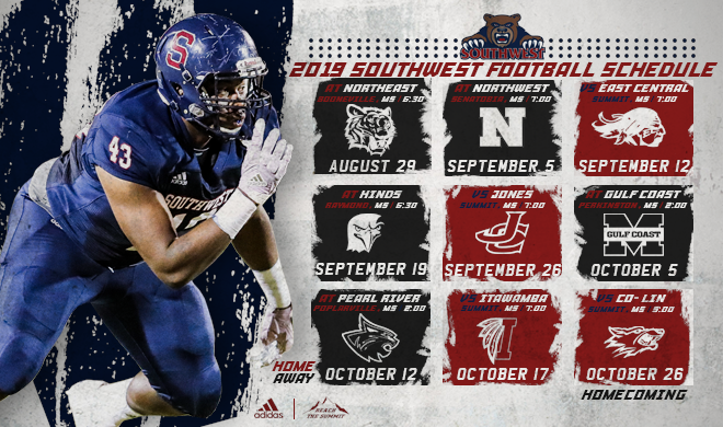 Southwest MS Bears release 2019 Football Schedule