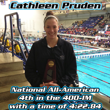 Pruden Earns National All-America; Finishes 4th in 400-IM