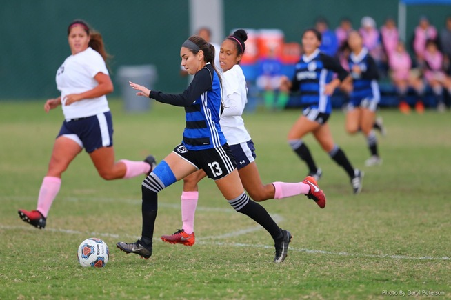 Stephanie Nava scored all three goals in a 3-0 Falcons win