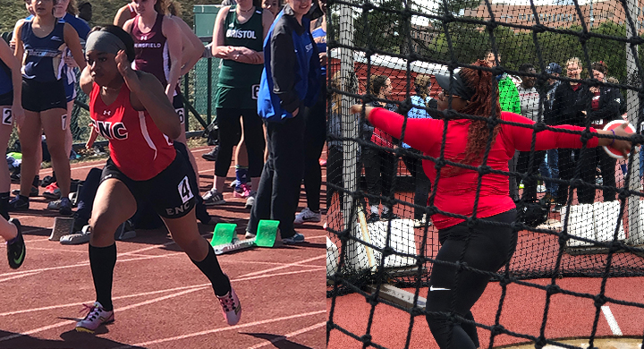 Timiera Toland Named NECC Women's Track & Field Rookie of the Year, Sandrid Louis Earns All-NECC Team