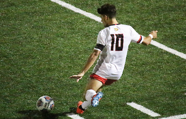 Red-Hot Men's Soccer Tops Mitchell 4-0 for 10th-Straight Win