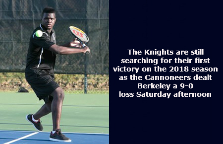 Knights drop HVIAC contest to Pratt Institute by a score of 9-0 on Saturday; Berkeley falls to 0-2 on 2018 season