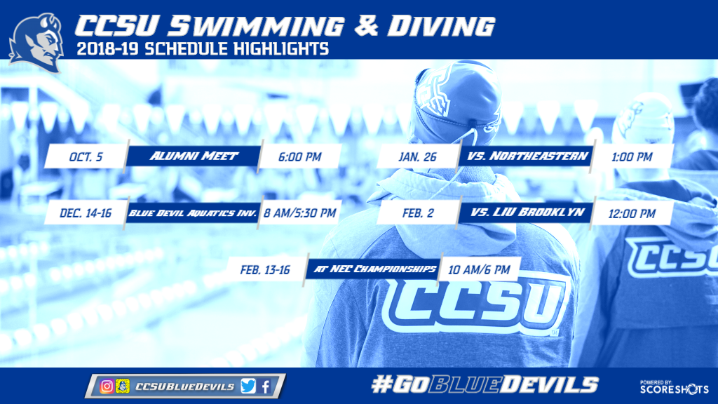 Swimming and Diving Announces 2018-19 Schedule