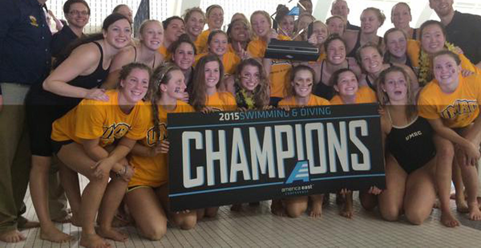 CHAMPIONS! UMBC Swimming and Diving Claims the 2015 America East Championship