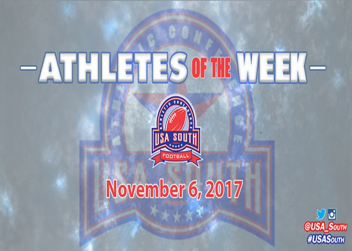 Thomas and Tarver earn USA South Athlete of the Week honors