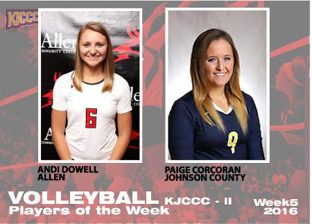 2016 KJCCC – II Volleyball Players of the Week, Week 5