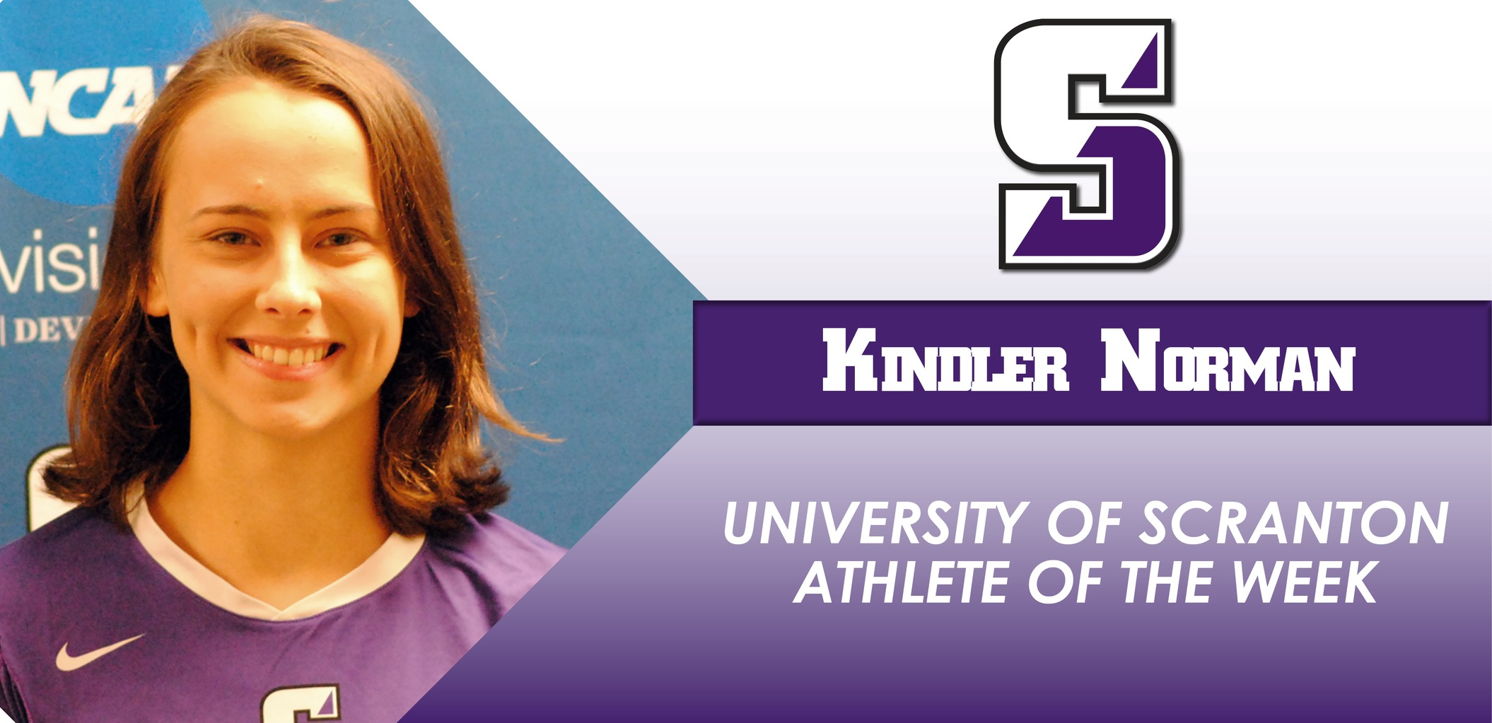 Volleyball's Kindler Norman Named University of Scranton Athlete of the Week