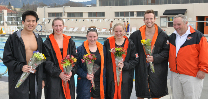 Senior Day for Swim, Dive Team
